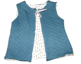 Peacock blue reversible vest 18 months