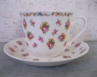Petite Rose Roy Kirkham Tea Cup and Saucer / Large Tea Cup / Bone China