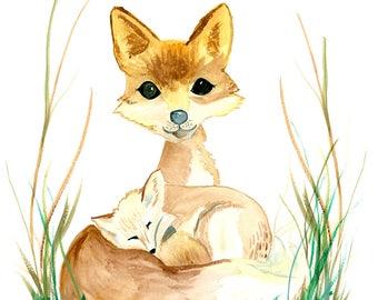 Mama Fox | Watercolor
