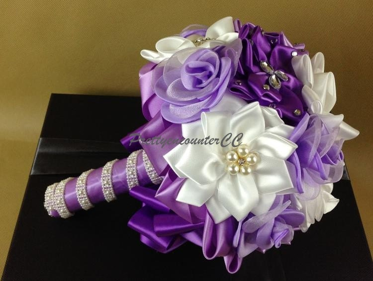 Lavender Wedding Bouquet Wedding Flowers Silk Flowers Handmade
