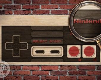 Nintendo: NES Controller Woodblock Art