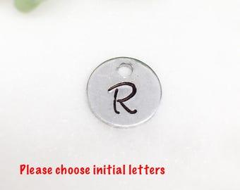 Add on initials, add on charm, add on letter, add on