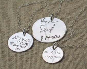Personalized Necklace - Gift for Her - Custom Handwriting Necklace  - ACTUAL Handwriting Necklace -  Memorial Jewelry - Bridesmaid Gift