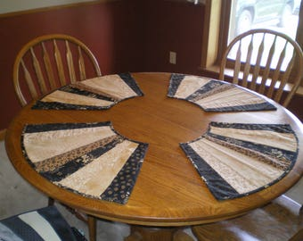 Round Placemats Set 24X14