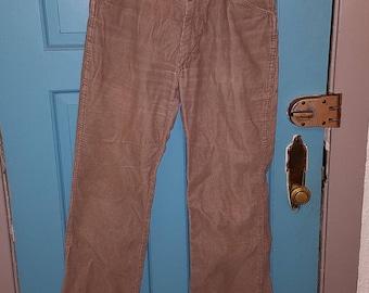 Hipster Tan Corduroy SedgeField Pants jeans 1970s