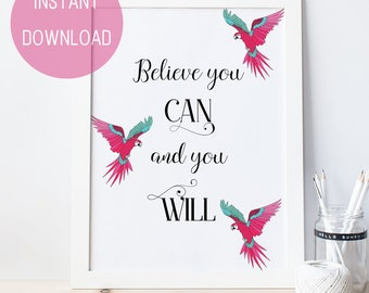 Printable Coworker Gift, Cubicle Decor, Motivational Gift For Daughter, Art Print, Printable Wall Art, College Student Gift, Office Decor