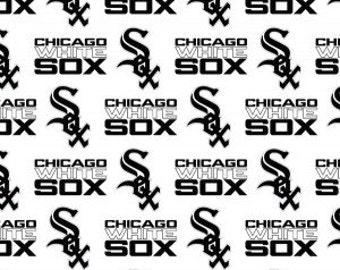 Chicago White Sox Cotton Fabric 1 Yard Sports Team 100% Cotton