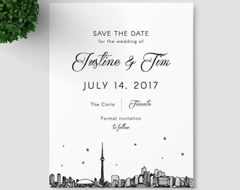 Toronto Skyline Save the Date SAMPLE ONLY; Canada