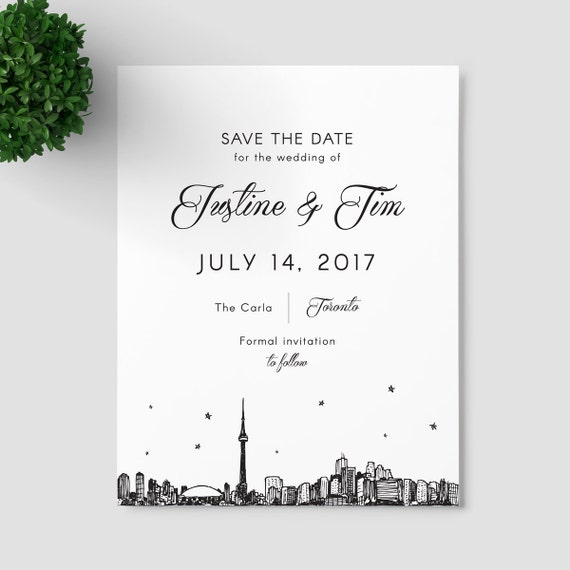 Toronto Skyline Save The Date SAMPLE ONLY Canada