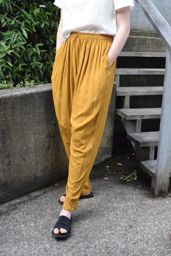 Mustard Yellow Lounge Pants | Print Optional