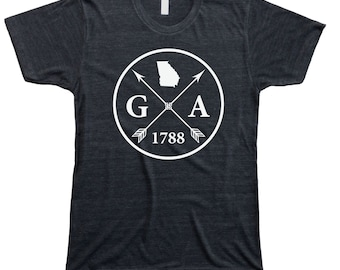 Homeland Tees Men's Georgia Arrow T-Shirt