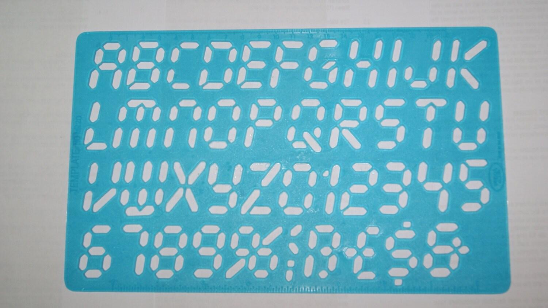 Plantilla de plantilla plástica numérico de tipo 20 Micro Digital ...