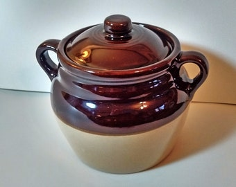 Monmouth Pottery Crock w/ Lid, Cookie Jar, Bean Pot, Canister, Snack Jar