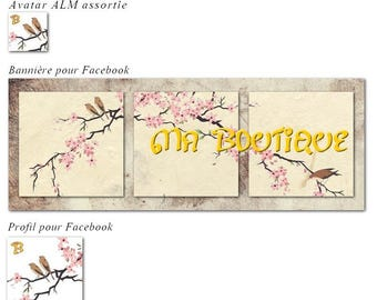 """Banner and avatar """"Cherry"""" for shop and Facebook"""