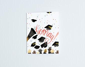 Hooray Grad! - Greeting Card