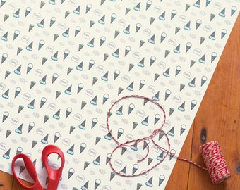 Ice cream wrapping paper 10x