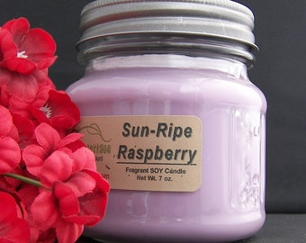 SUN-RIPE RASPBERRY SoY Candle - Strong - Highly Scented