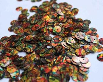 100 pcs multi colored sequins/KBRS123