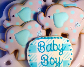 Baby Elephants - sugar cookies