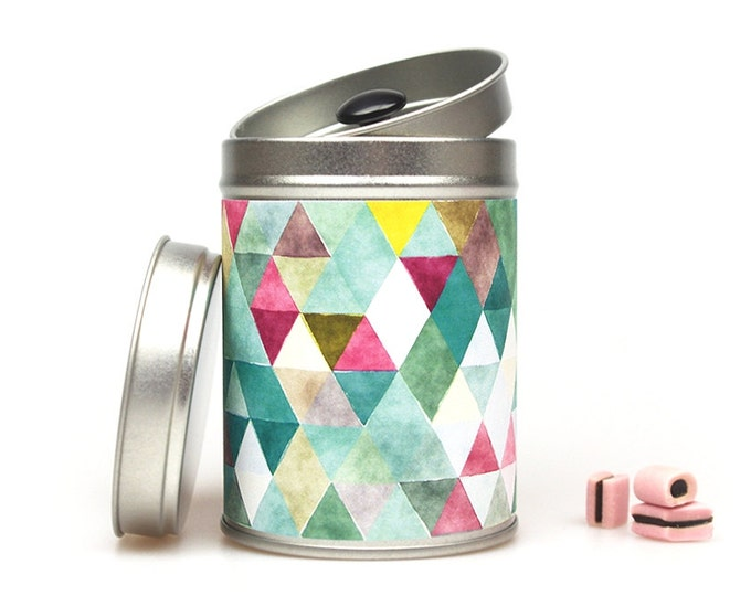TRIANGLES Gift Tin Caddy