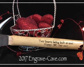 Engraved and Personalized Hammer for Valentine's Day Husband Gift