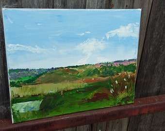 Original Oil Painting on Canvas of a Landscape