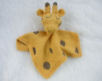 All natural cotton baby security blanket/toy.