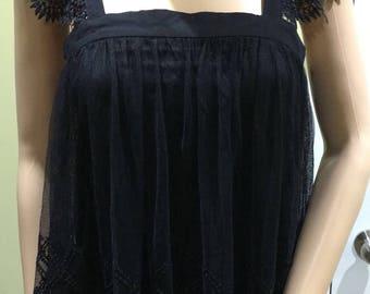 Black licorice Babydoll top