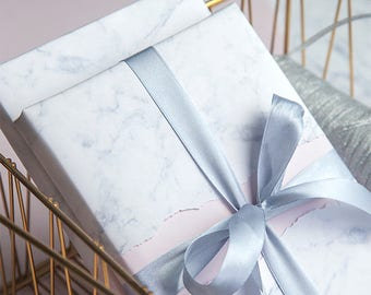 White Marble Wrapping Paper,Birthday Gift Wrap,Marble Painting Wrapping,Holiday Gift Wrap