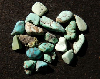 Amazing Quality Natural Turquoise Rough 19 Pieces Lot AAA++ Quality 10.35ct Loose Rough Stone Raw gemstone Untreated Rough TQ1