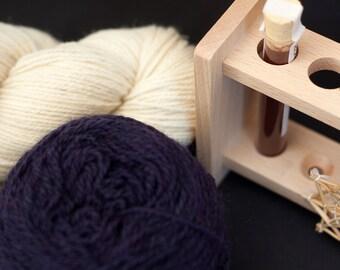Pflanzenfärbe Kit - Blauholz violett - Biowolle - färben mit Pflanzenfarben