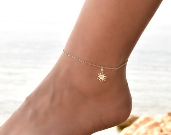 Delicate Anklet bracelet, Anklet, Sterling Silver Anklet Bracelet, Dainty Anklet Silver, Anklet for Women, Anklet Jewelry, Ankle Chain Charm