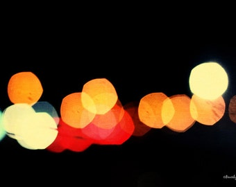 lights, night, travel, bokeh, blur, fine art photography