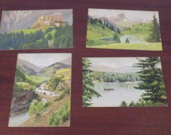 Vintage Unused Postcards from Germany - set of 4!