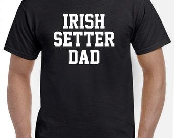 Irish Setter Dad Shirt Tshirt Gift