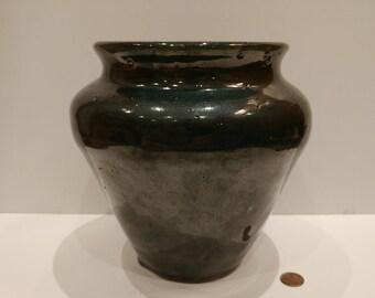 Green Ceramic Vase Wheel Thrown