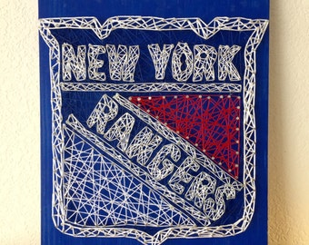 New York Rangers, NY Rangers, Rangers Baby, New York Art, String Art, Sports String Art, Custom Sign, Man Cave, Man Cave Gifts, Sports fans