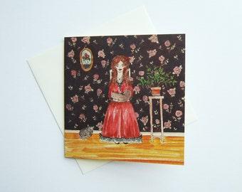 Illustrated Greeting Card, Birthday Card, Watercolor Greeting Card, Illustrated Stationary, Greeting Card, Birthday Card, Card Illustration