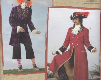 2333 Simplicity Mad Hatter/Pirate Costume Sewing Pattern Sizes L-XL