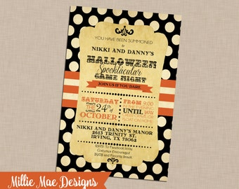 Antique Halloween Invitation