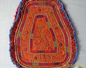 Embroidered Bicycle Seat Cover: Vintage Pashtun Katawaz Embroidery of Afghanistan, Item E1