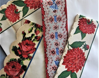 Vintage Royledge Shelf Edging, Floral Vintage Assorted Lot