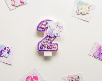 My little pony birthday candle / my little pony birthday / my little pony cake topper / my little pony party / birthday candles