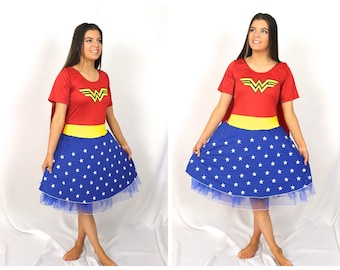 Quality Adult Wonder Woman Halloween  Costume  ~    Wonder Woman  Costume ~ Cape ~ Halloween ~ Cosplay ~ Theatre