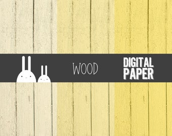 Wood Yellow Digital Paper - Commercial & Personal Use