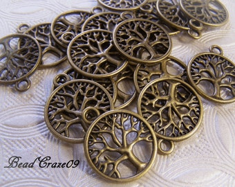 Bronze Tree Of Life - Tree Of Life Pendant - Tree Of Life Charm