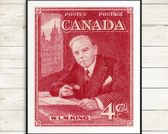 history teacher gift, William Lyon Mackenzie King, canadian history, history classroom decor, history posters, history of canada, canadiana