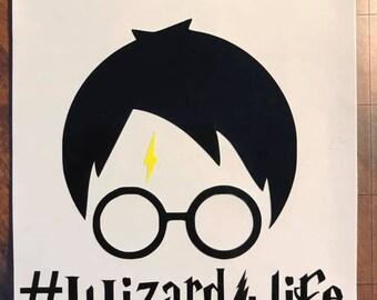 Harry Potter Inspired Wizard4Life Vinyl Sticker