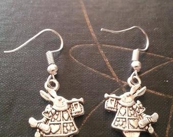Silver Wonderland Rabbit Earrings