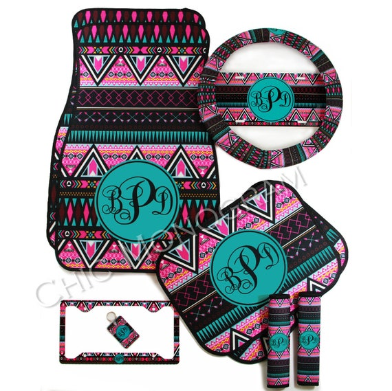 aztec tribal car accessories mix and match personalized car